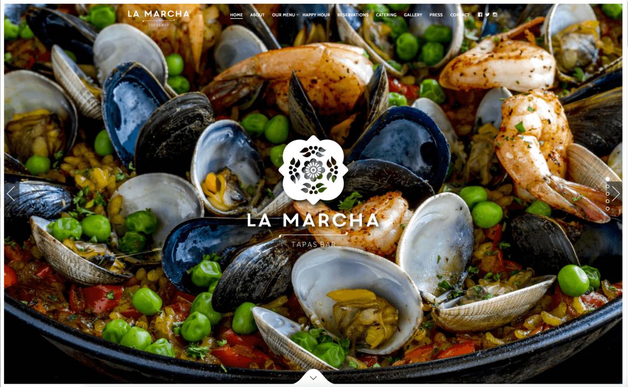 Webdesign Restaurant LaMarcha Fotografie Website