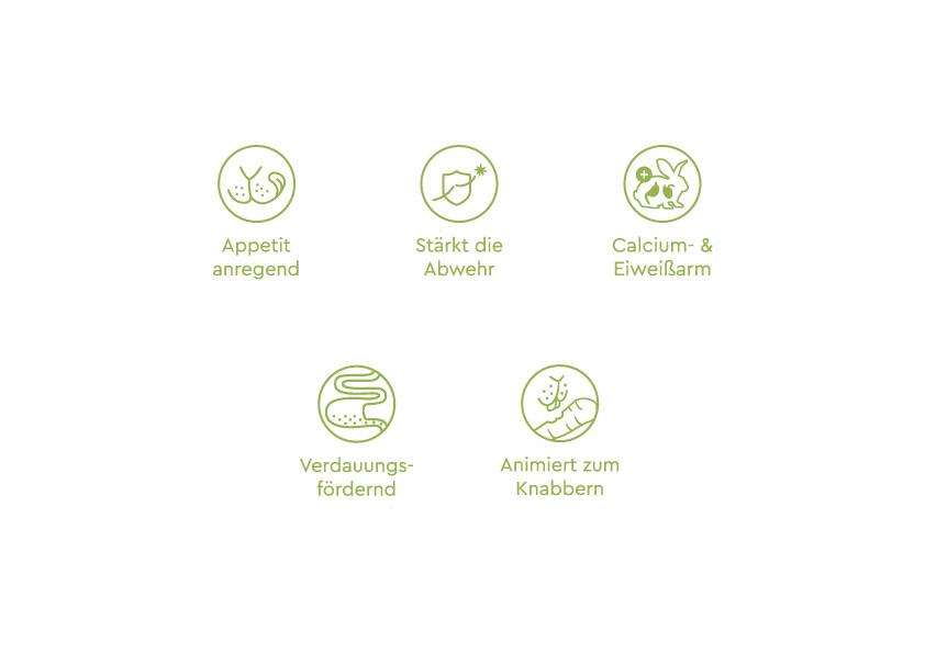 Icons Produkteigenschaften Futtermittel Kleintiere Speers Hoff von Redeleit und Junker