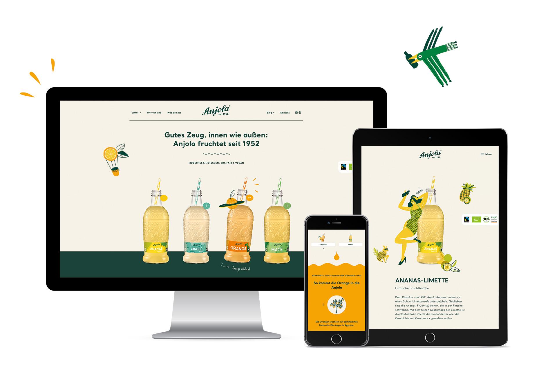 Anjola responsive Webdesign