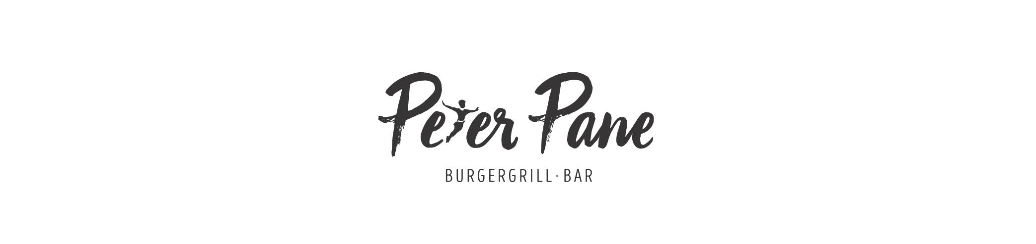 Logo und Schriftzug für Peter Pane Burgergrill und Bar