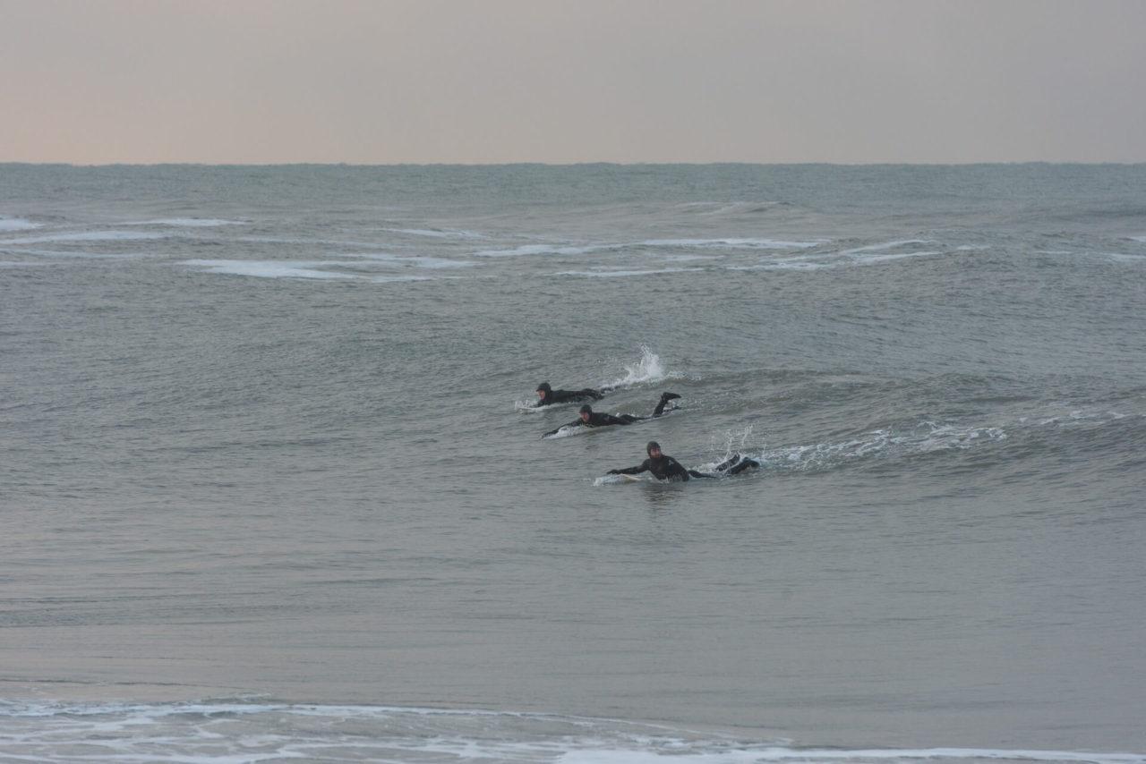 Foto der Fotostory von Redeleit und Junker zeigt Surfen in Daenemark