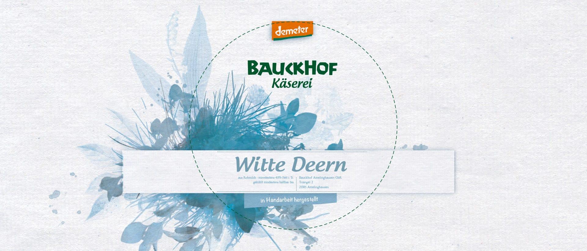 Verpackungsdesign von Redeleit und Junker für Bauckhof Käse von Demeter Qualität Amelinghausen