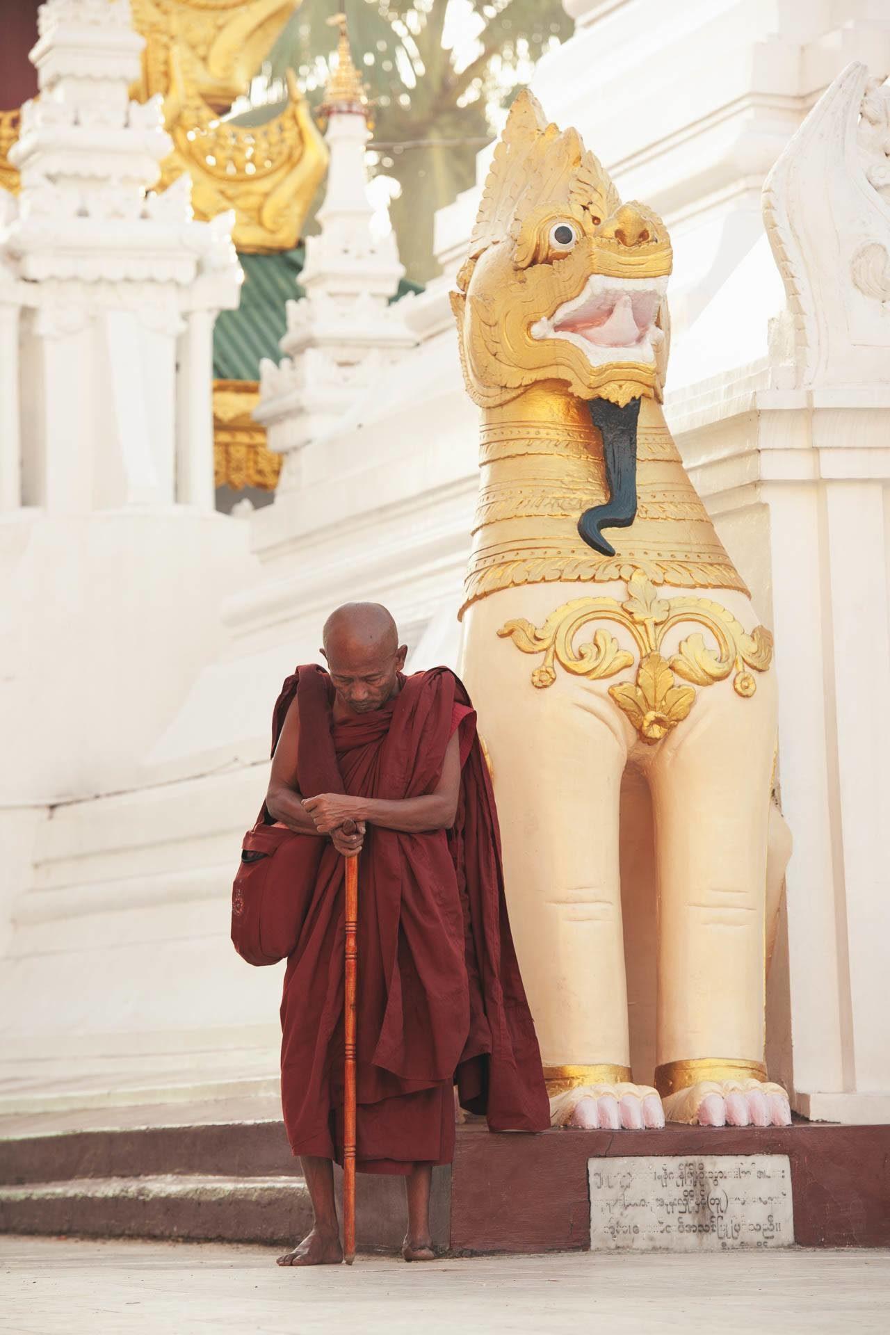 Konzentrierter Mönch Myanmar Fotostory von Nils Junker