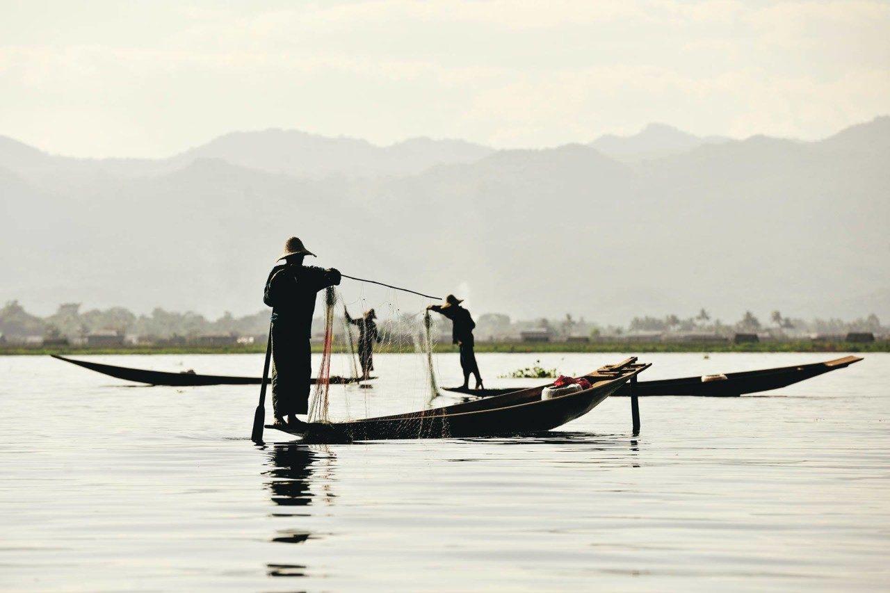 Fischer See Myanmar Fotostory von Redeleit und Junker