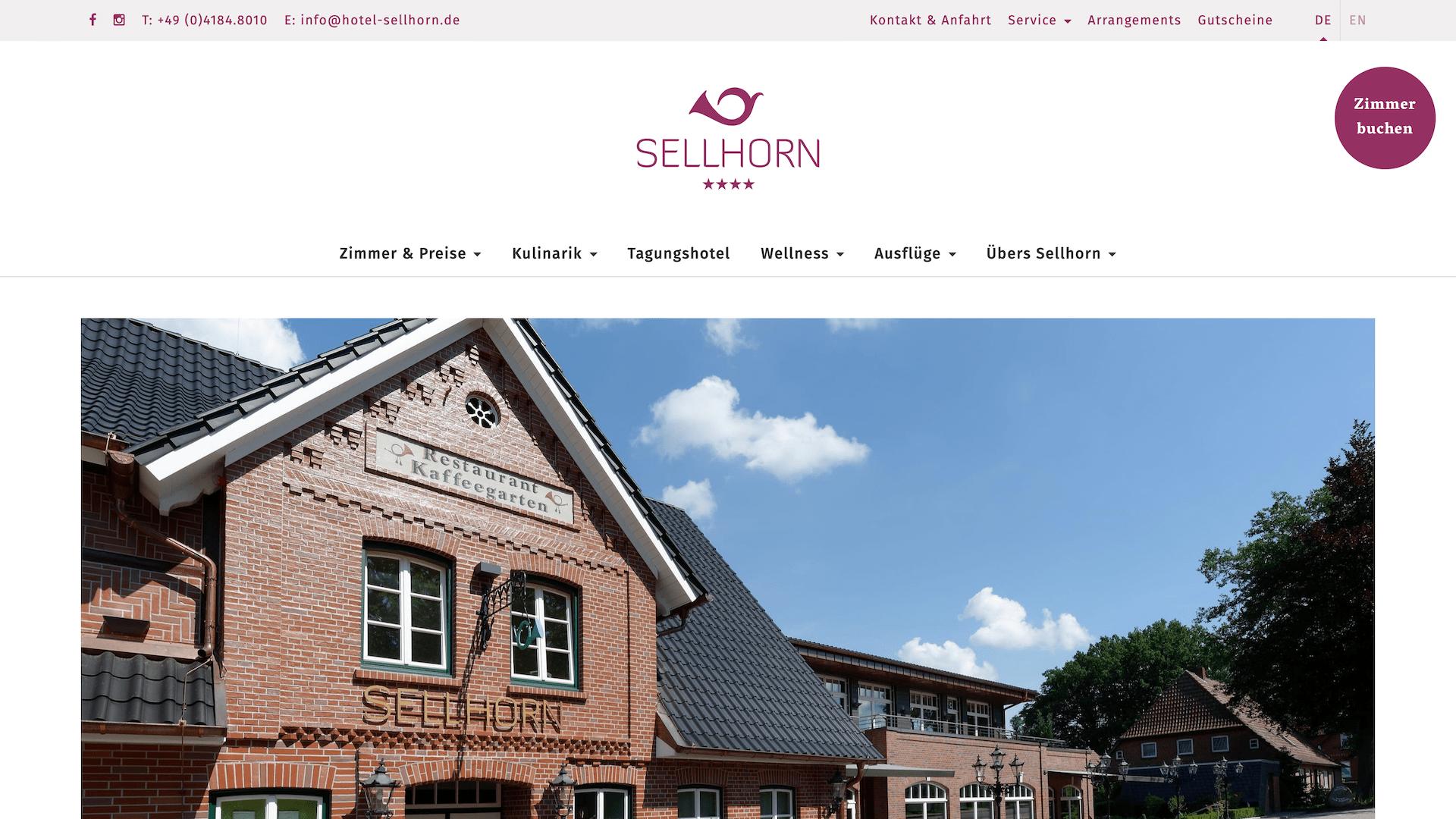 Ringhotel Sellhorn als Beispiel für gute Nutzerführung durch die Webdesign Agentur Redeleit und Junker