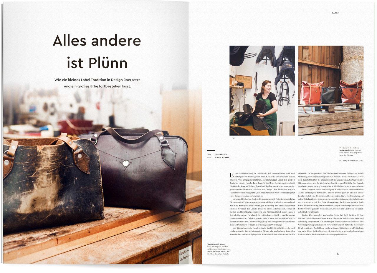 Auszug aus dem Ueber Magazin Druck No 9 zum Thema Design