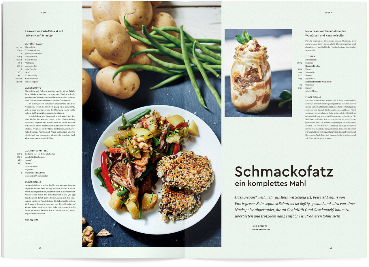 Auszug aus dem Ueber Magazin Druck No 9 zum Thema kochen